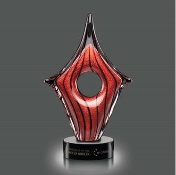 Image de Trophée - Verre Soufflé - Rialto Award - twisté