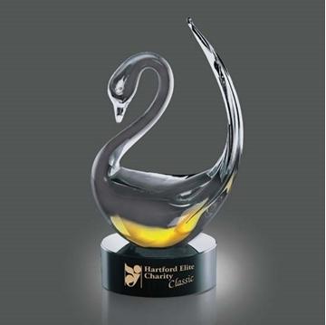 Image de Trophée - Verre Soufflé - Soho Swan - Cygne
