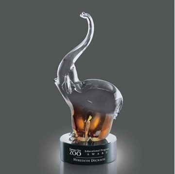 Image de Trophée - Verre soufflé - Soho Elephant - elephant