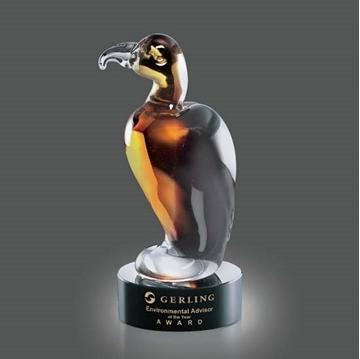 Image de Trophée - Verre Soufflé - Soho Eagle - aigle