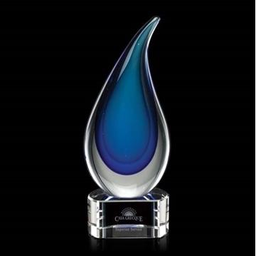 Image de Trophée - Verre soufflé - Delray Award - goutte d'eau