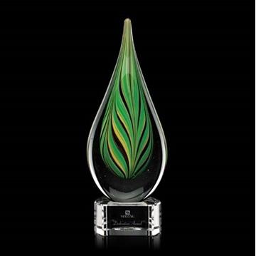 Image de Trophée - Verre soufflé - Aquilon Award - goutte d'eau