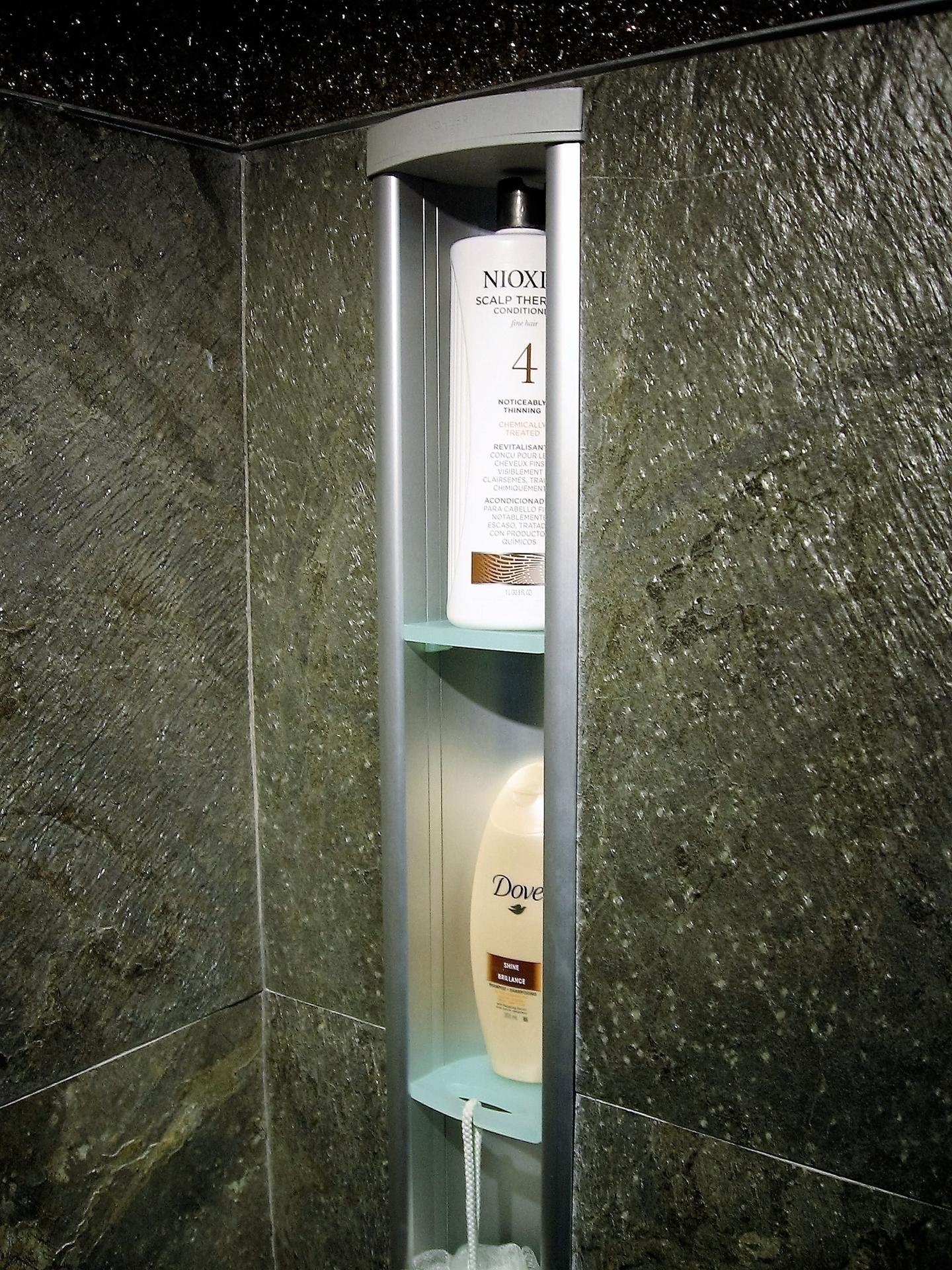 Alcove de rangement encastr douche c ramique centre d for Rangement de douche