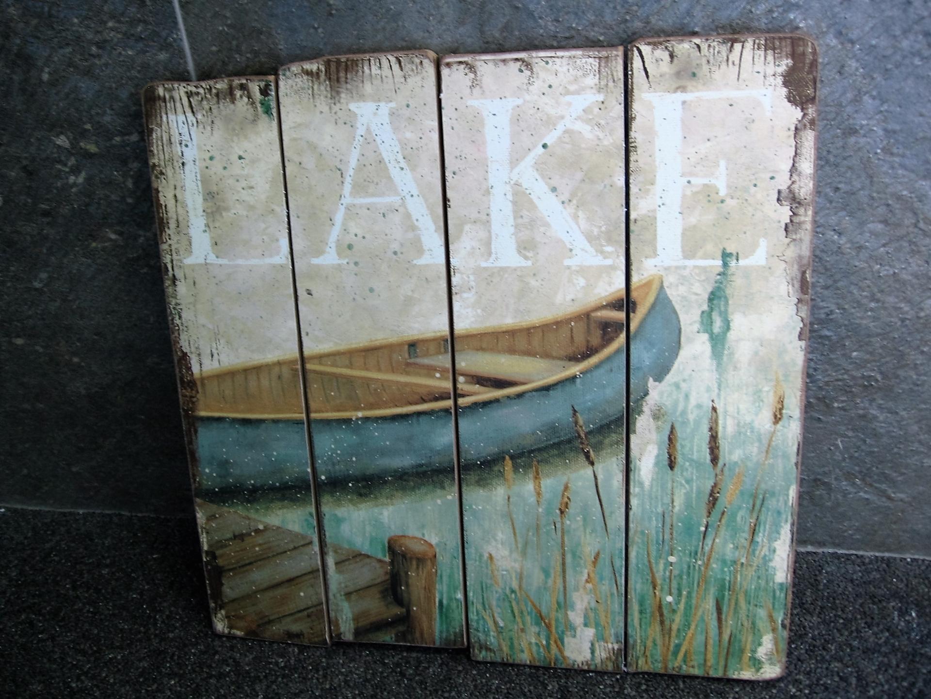 Cadres mural en bois image bord de lac centre d 39 achats en ligne ouvre - Cadre decoratif mural ...