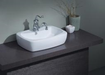 Image de lavabo  thema vasque blanc 1 trou