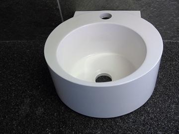 Image de Lavabo petit vasque resine blanc