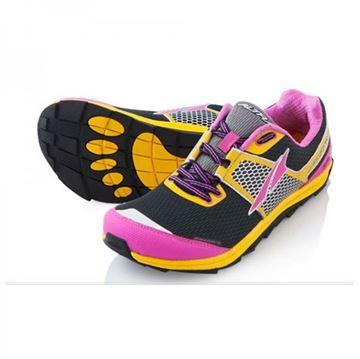 Chaussure de course trail Altra superior 1.5 femme rose gris jaune Zéro drop