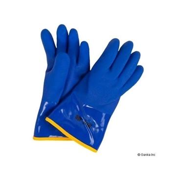 Image de gant PVC bleu doublé 10/4 JOB