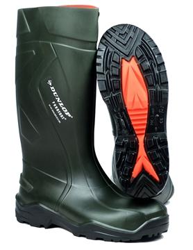 Image de Botte Dunlop Puroft + avec cap verte