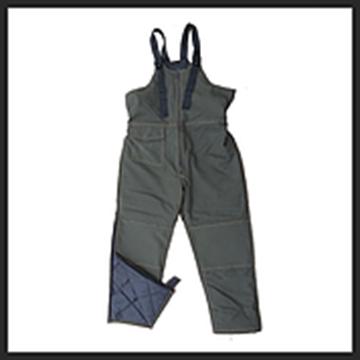 Image de pantalon travail doublé en coton Lamartine kaki