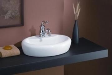Lavabo Aloha vasque ovale porcelaine blanc