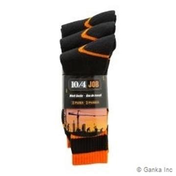 Image de bas travail paquet 3 noir/orange 10/4 JOB