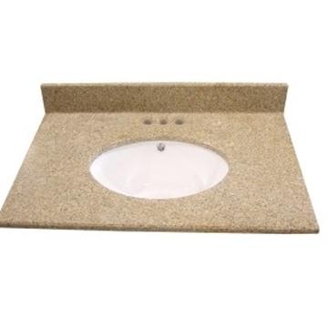 Dessus en granit brun avec lavabo