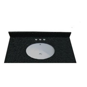 Dessus en granit noir avec lavabo intégré