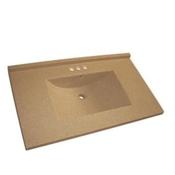 Dessus en marbre synthétique brun lavabo intégré
