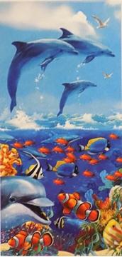Image de Serviette de plage avec dauphins