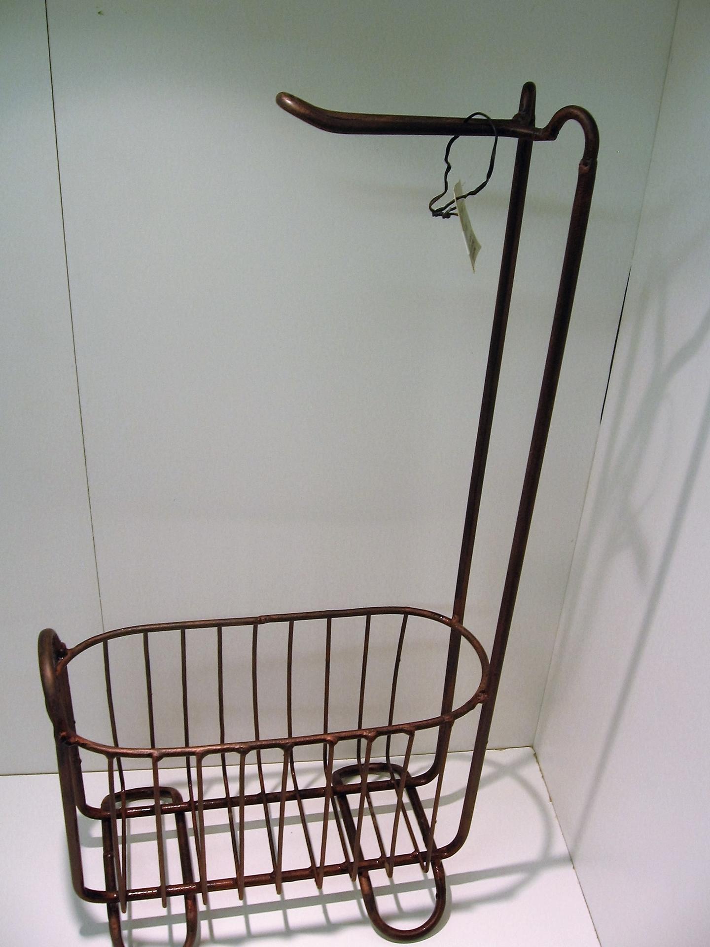 Porte papier toilette bronze avec panier rangement centre d 39 achats en l - Panier papier toilette ...