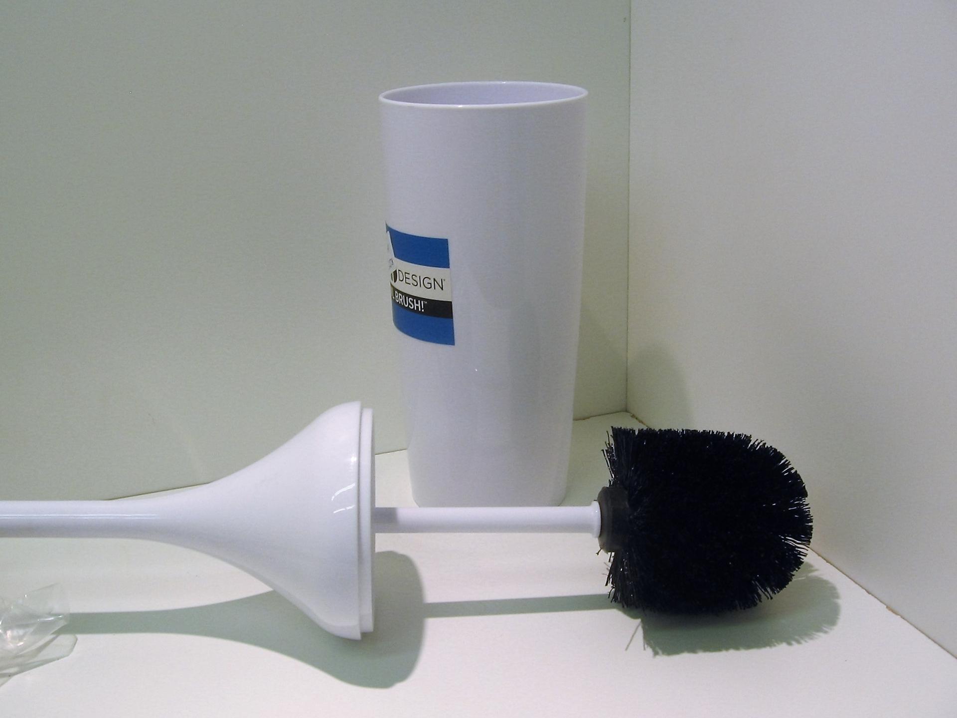 Interdesign brosse toilette plastique blanche centre d for Brosse toilette murale