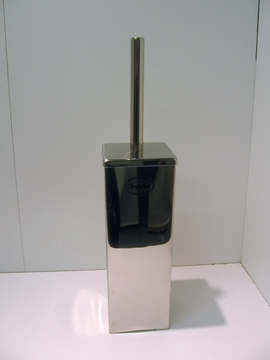 IMPÉRIAL Brosse à toilette carré en métal chrome