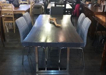 Image de Table en acacia grise
