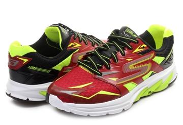 Chaussure de course route Skechers Go Run Strada homme rouge-jaune-noir
