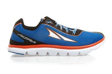 Chaussure de course route Altra The One 2.0 homme bleu orange Zéro drop
