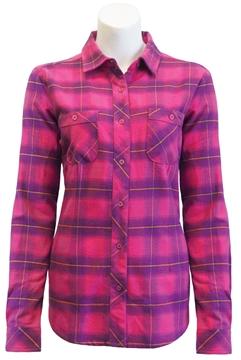Image de chemise en flanelle à carreaux PF470 rose-mauve