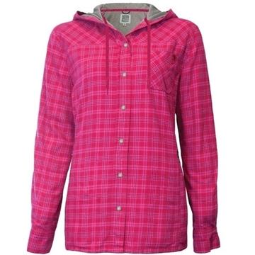 Image de chemise en flanelle doublée à capuchon PF460 rose