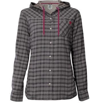 Image de chemise en flanelle doublée à capuchon PF460 gris