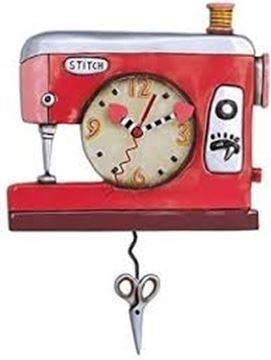 Image de Horloge Machine a Coudre Rouge | AD-P1578