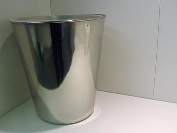IMPÉRIAL Poubelle en métal chrome