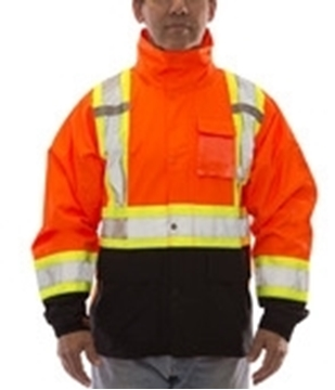 Image de manteau imperméable ICON TIngley avec bande réfléchissante orange