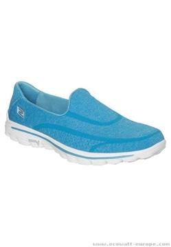 Chaussure de marche confort Skechers GoWalk 2 femme bleu