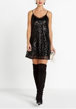 Image de Buffalo robe courte à bretelles fines avec paillettes