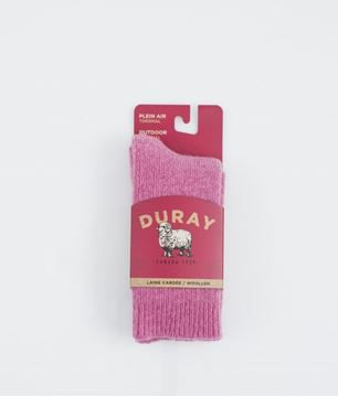 Image de bas boréal enfant Duray laine thermal rose