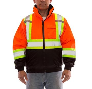 Image de  manteau Bomber 3 en 1 orange avec bande TIngley