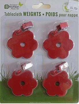 Image de Poids rouge pour nappes