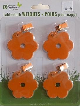 Image de Ensemble de poids orange pour nappe.