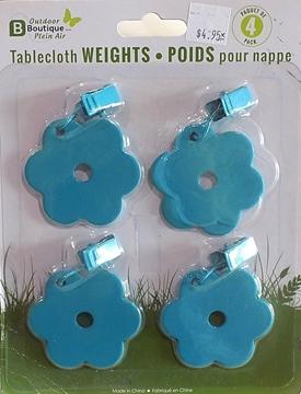 Image de Ensemble de poids bleu pour nappes.