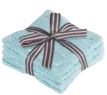 Image de Débarbouillettes bleu à motif de briques