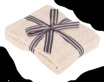 Image de Serviette à main beige à motif de briques
