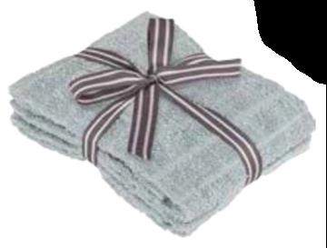 Image de Serviette à main gris à motif de brique