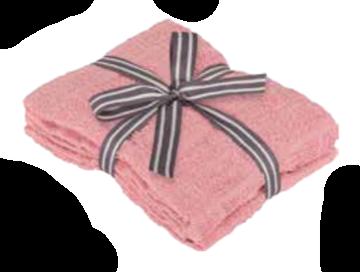 Image de Serviette à main rose à motif de briques