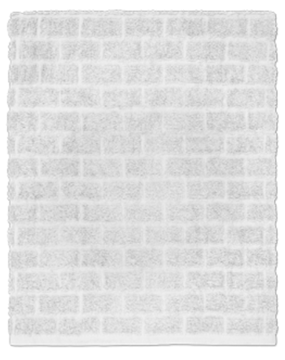 Image de Serviette de bain blanc à motif de brqiue