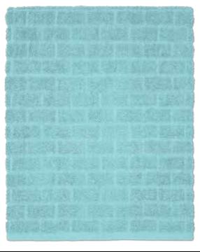 Image de Serviette de bain bleu à motif de brique
