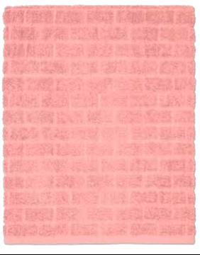 Image de Serviette à main rose à motif de brqiues