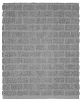 Image de Serviette de bain gris à motif de brique