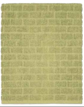 Image de Serviette de bain vert à motif de briques