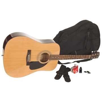 Image de Ensemble de guitare acoustique Fender (FA-100) - Naturel