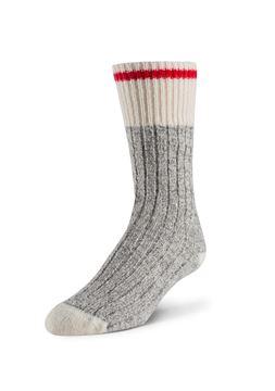 Image de Bas de laine pour femme  gris et rouge